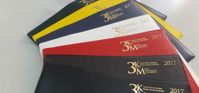 3KM手帳2017年版の在庫が残りわずかです。