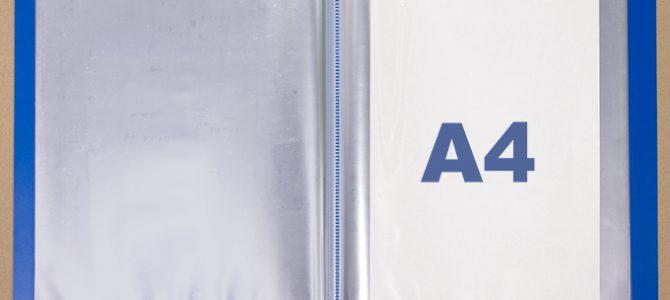 PP製クリアブックの中袋は、A4規格以外も対応可能です。