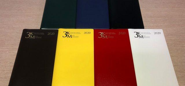 2020年版3KM手帳の表紙の人気色はこれ!