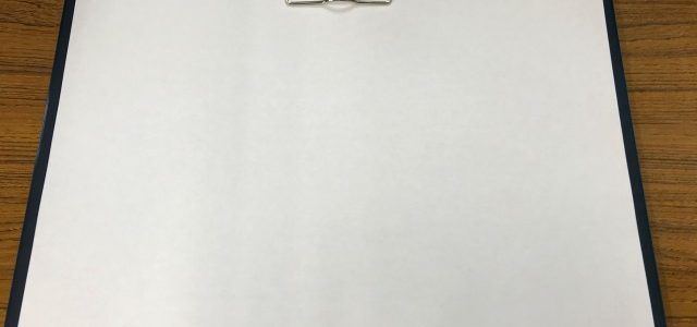 A3サイズのビニール製クリップボード